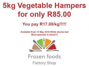 Frozen Vegetable Hampers in George