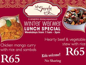 Winter Warmer Lunch Special at Kafe Serefé in George