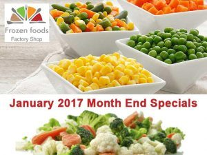 January 2017 Month End Specials on Frozen Foods in George