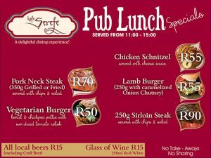 Restaurant Lunch Specials in George