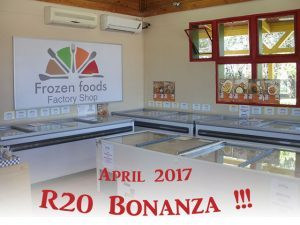 R20 Bonanza at Frozen Foods Factory Shop in George