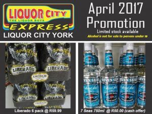 April Promotion at Liquor Shop in George