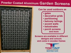 Aluminum Garden Screens in George