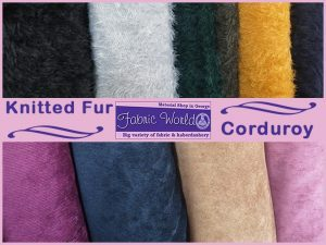Knitted Fur and Corduroy Fabrics in George