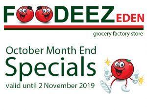 October Month End Specials at Foodeez Eden in George