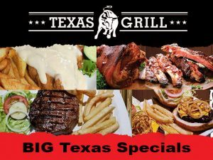 March 2020 Specials at Texas Grill Restaurant George